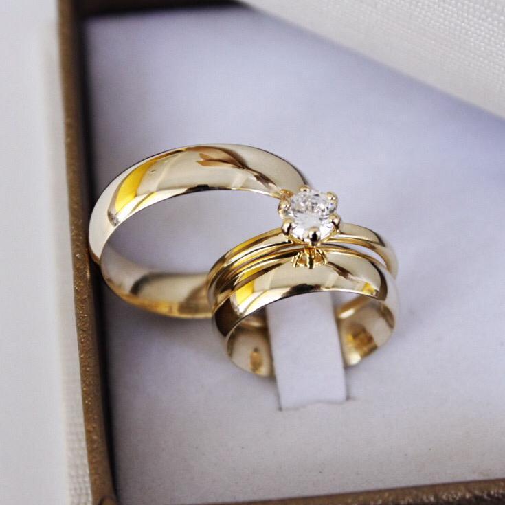 Alianças de Ouro Casamento - Noivado - 3125