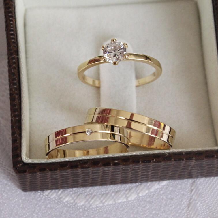 Alianças de Ouro Casamento - Noivado - 3145