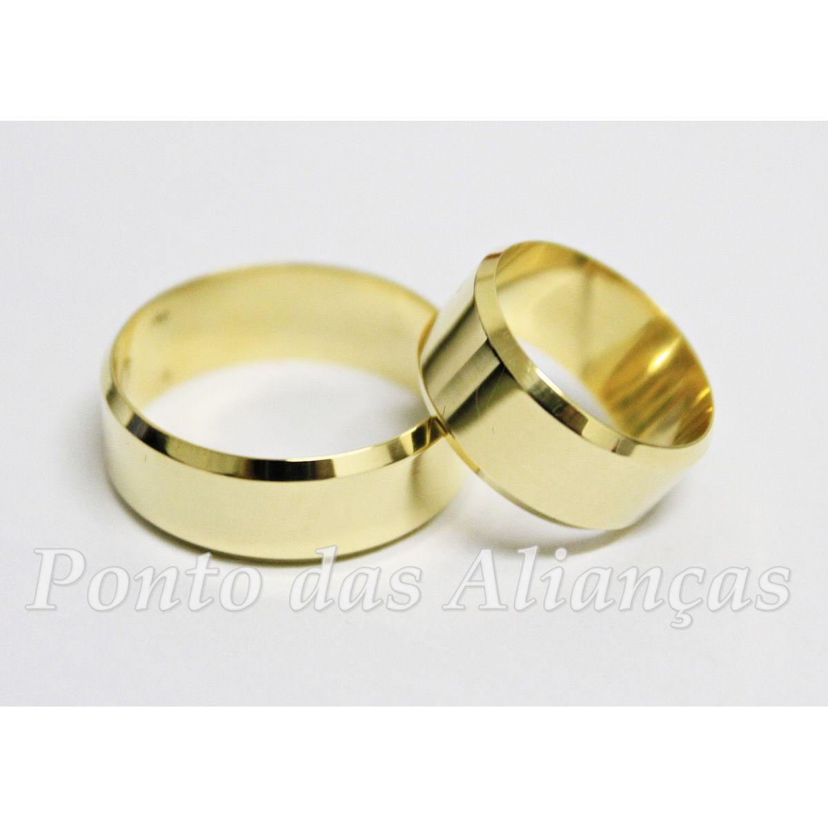 Alianças de Ouro Casamento - Noivado - 563
