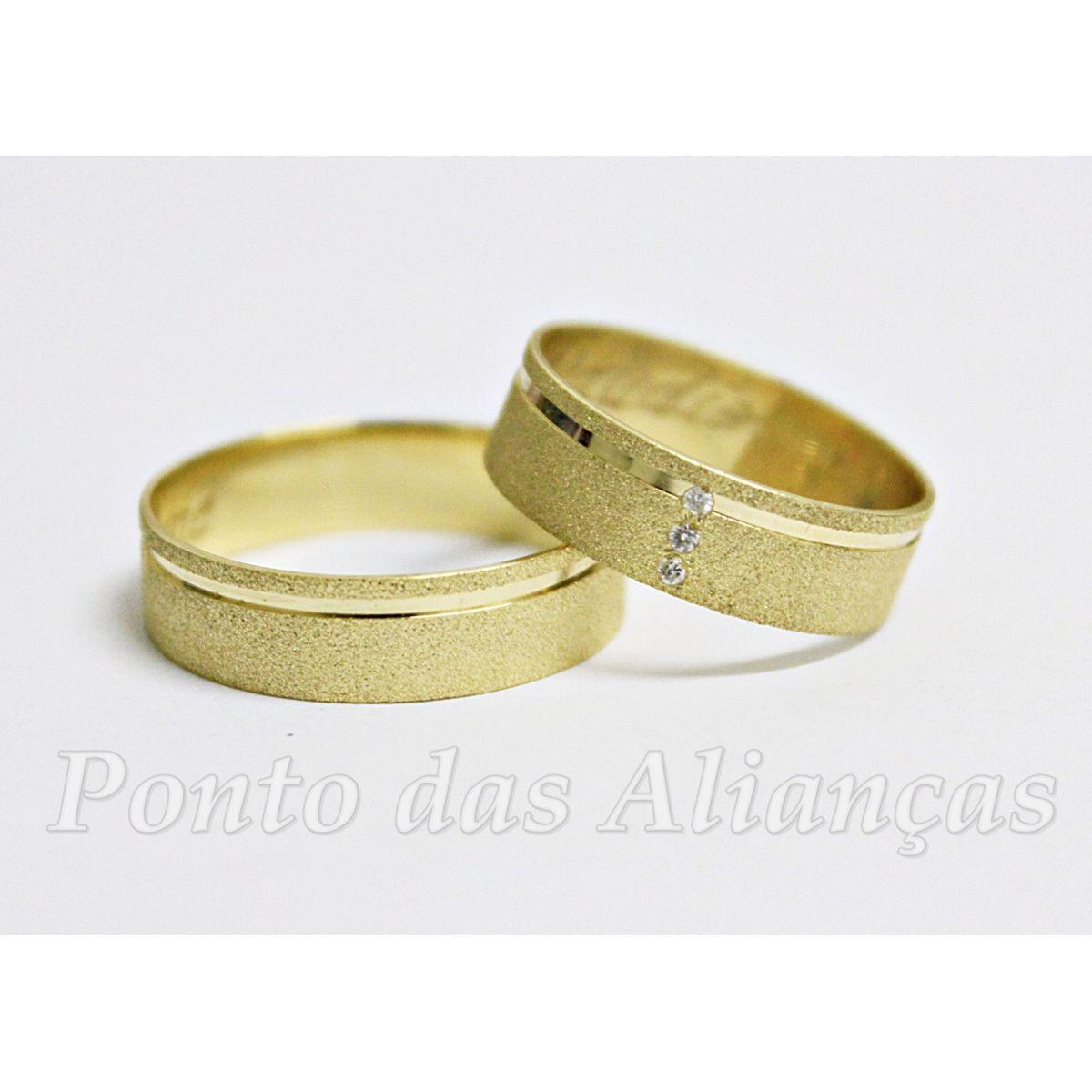 Alianças de Ouro Casamento - Noivado - 564