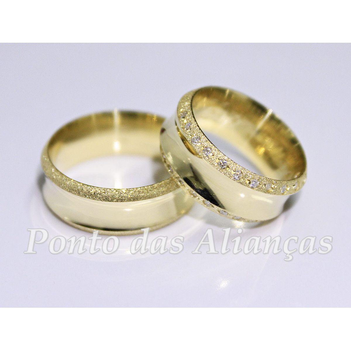 Alianças de Ouro Casamento - Noivado - 565