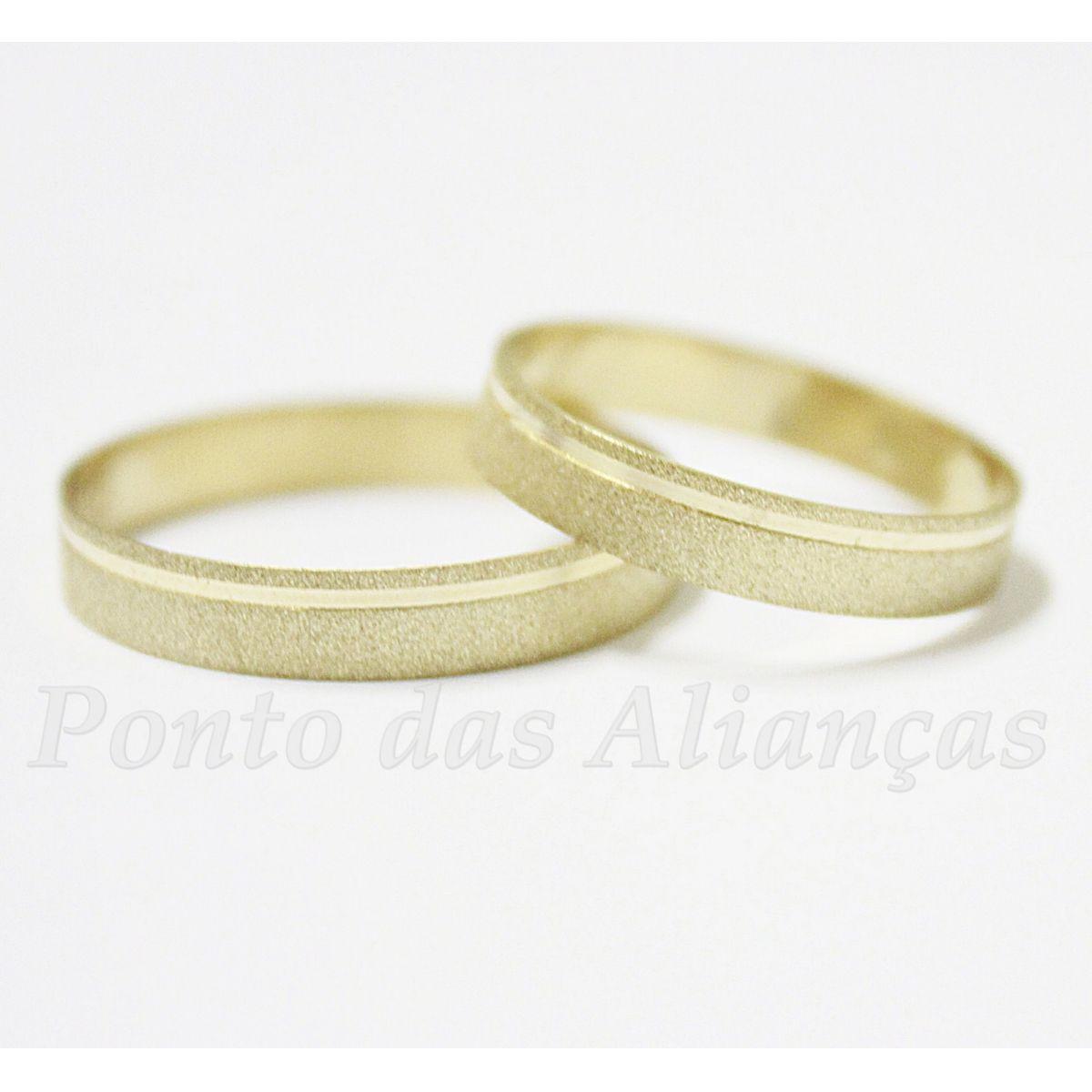 Alianças de Ouro Casamento ou Noivado - 014