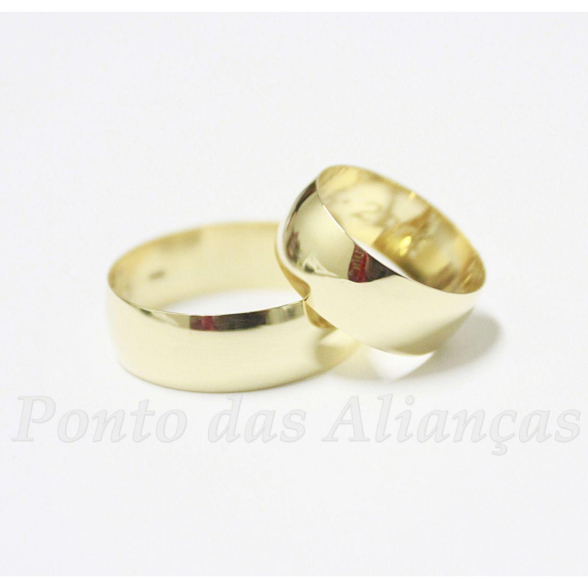 Alianças de Ouro Casamento ou Noivado - 1705