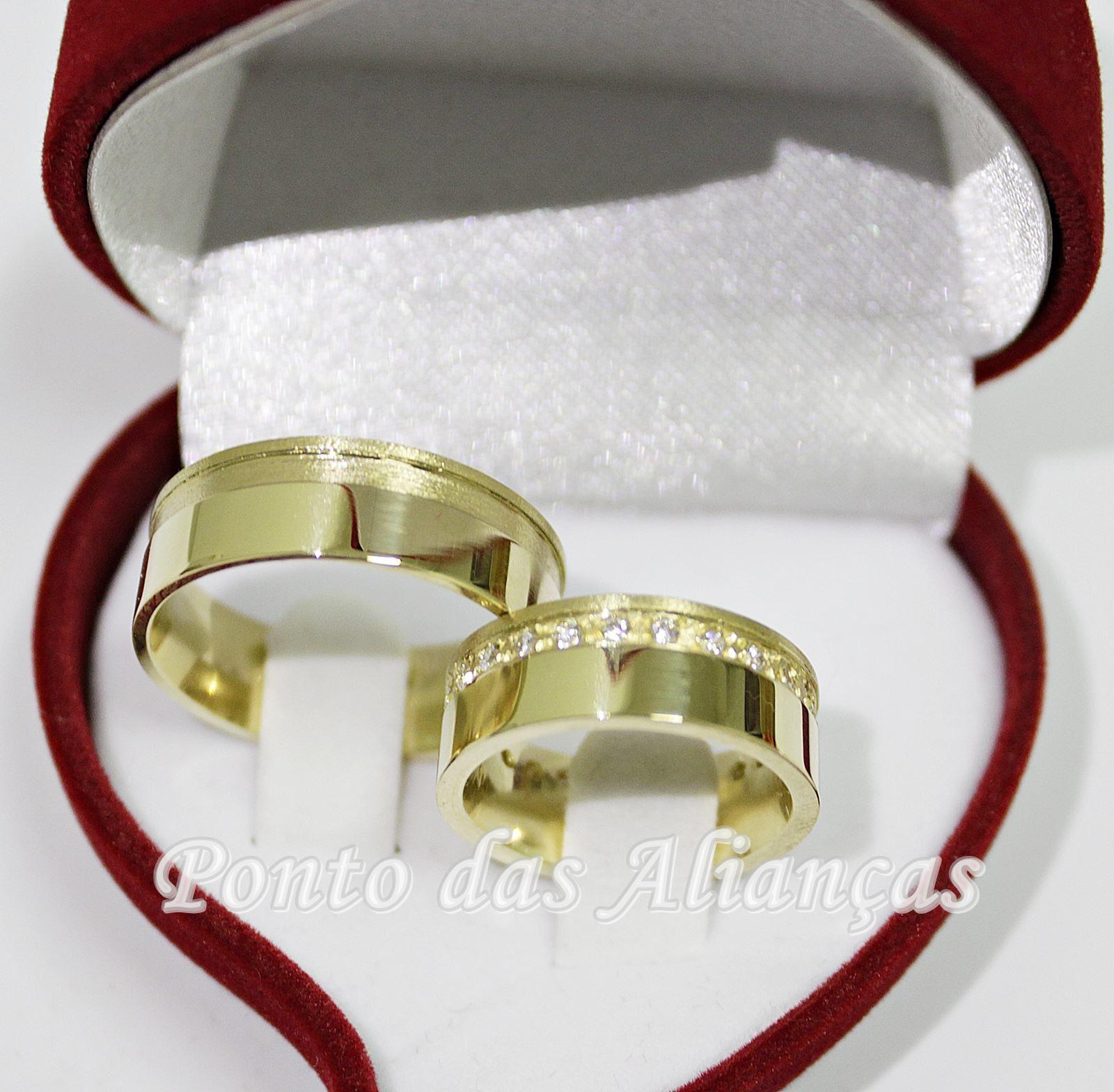 Alianças de Ouro Casamento ou Noivado -  3103
