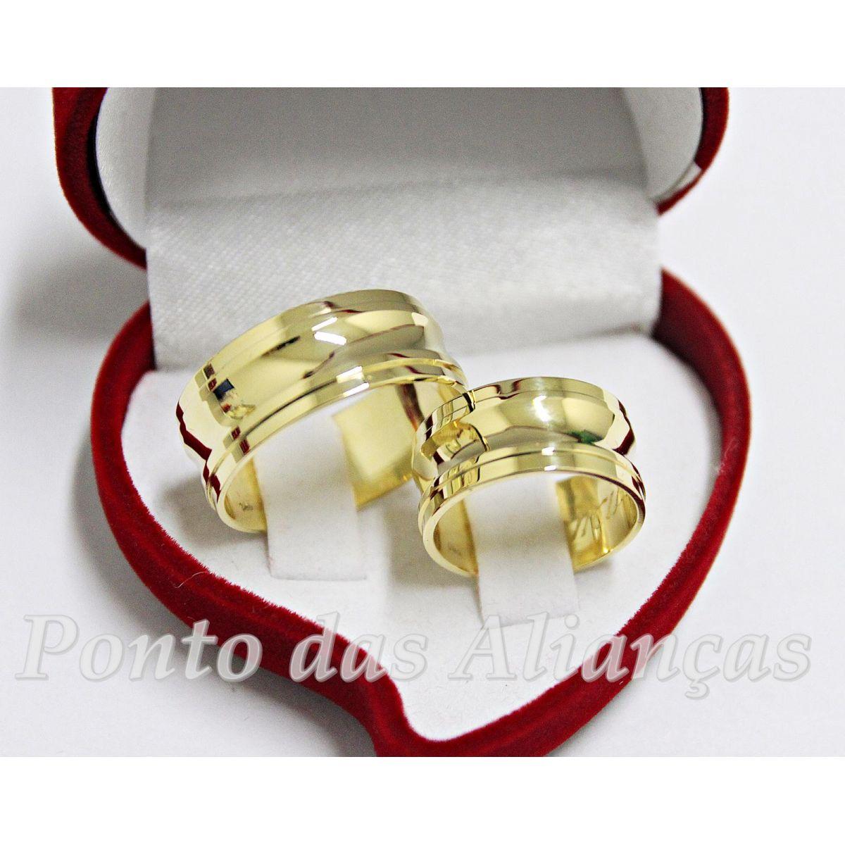 Alianças de Ouro Casamento ou Noivado -  3042
