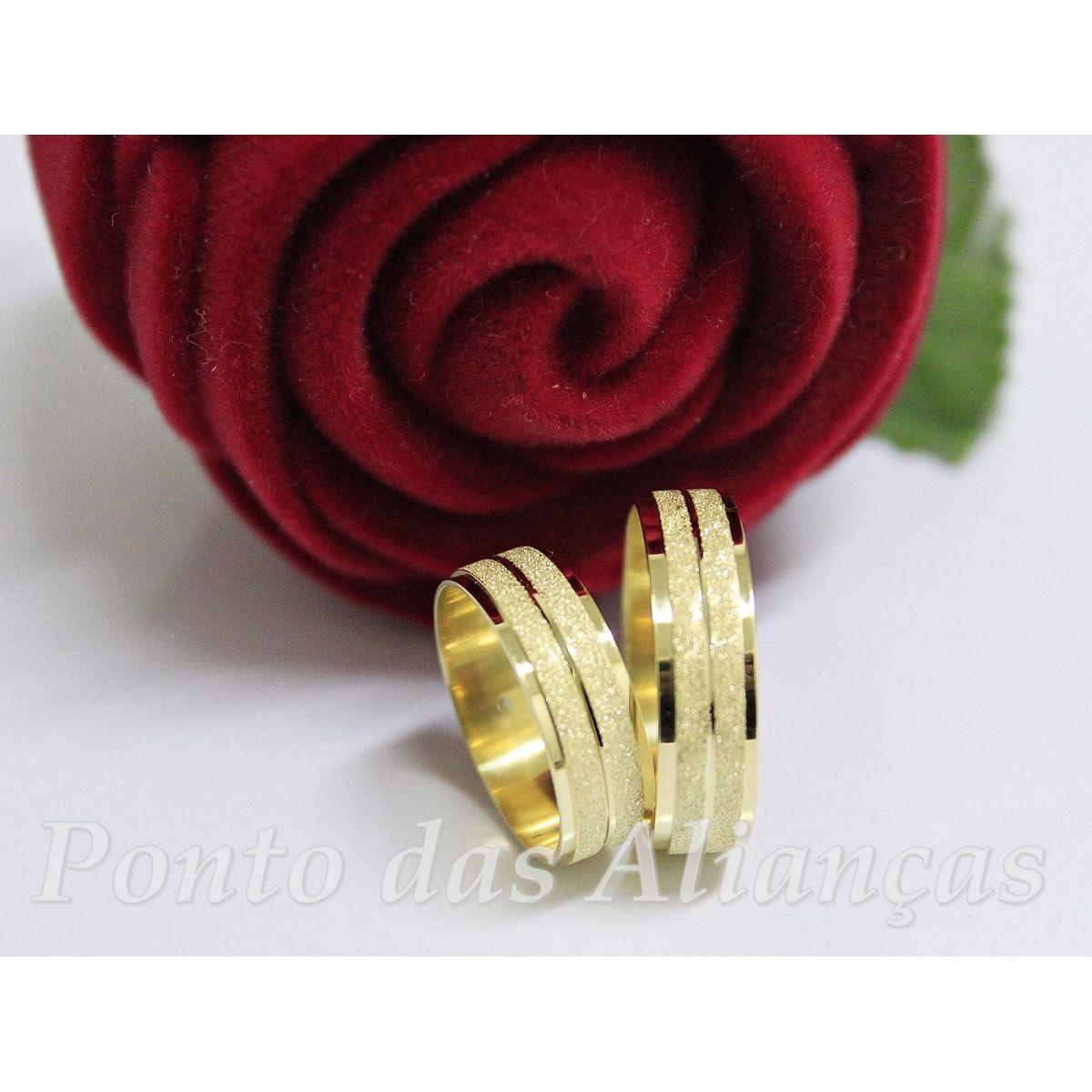 Alianças de Ouro Casamento ou Noivado - 3044