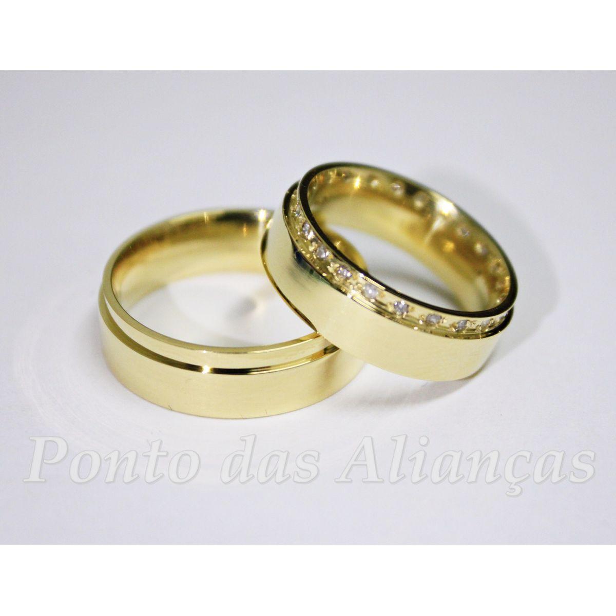Alianças de Ouro Casamento ou Noivado -  3048