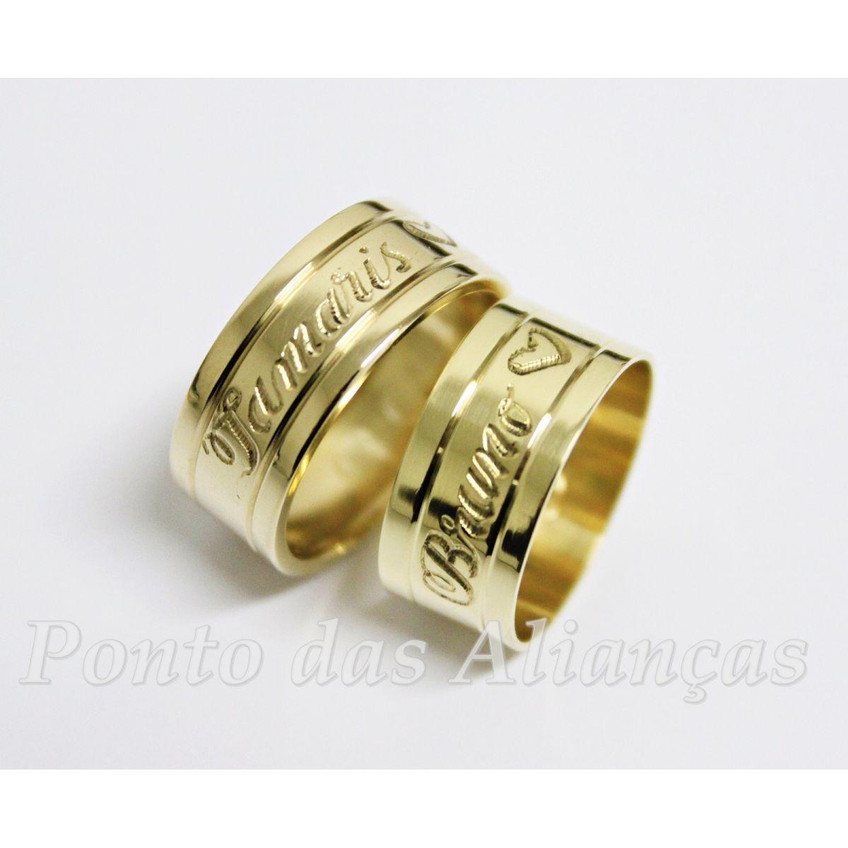 Alianças de Ouro Casamento ou Noivado -  3049
