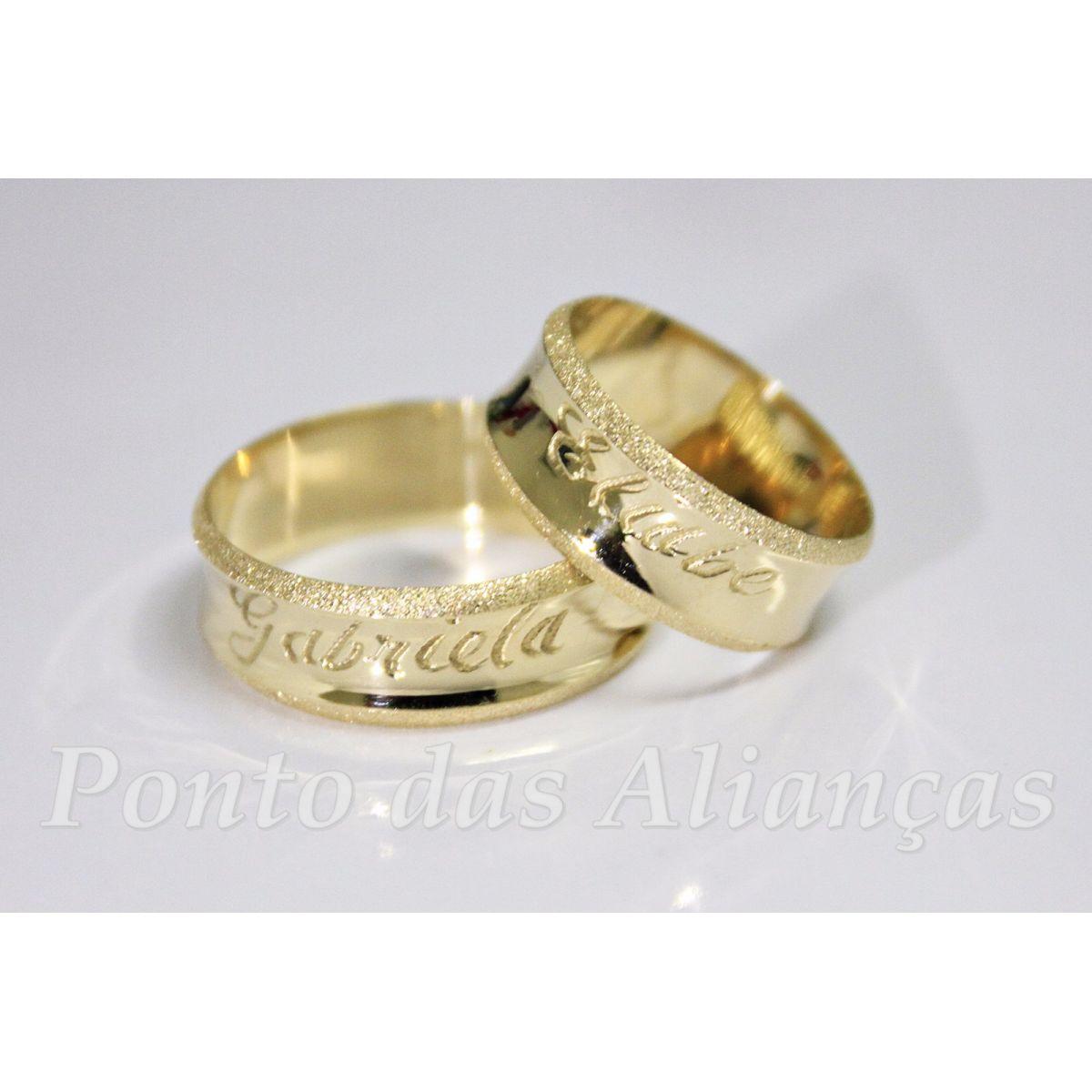 Alianças de Ouro Casamento ou Noivado -  3050
