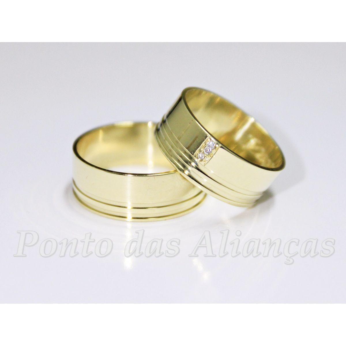 Alianças de Ouro Casamento ou Noivado -  3053