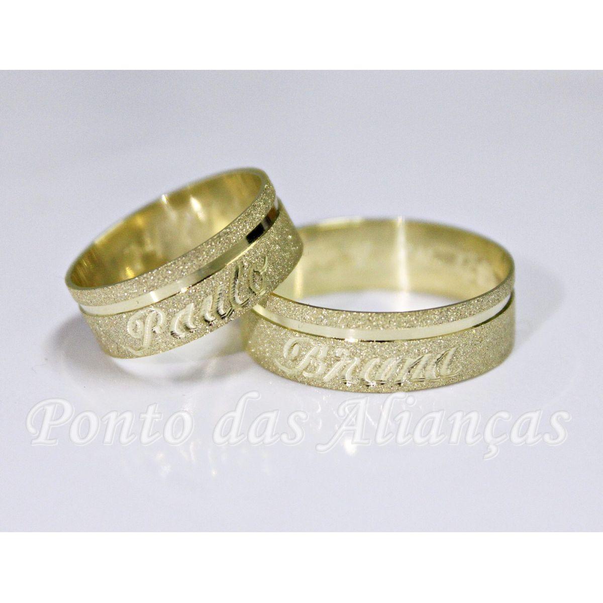 Alianças de Ouro Casamento ou Noivado -  3056