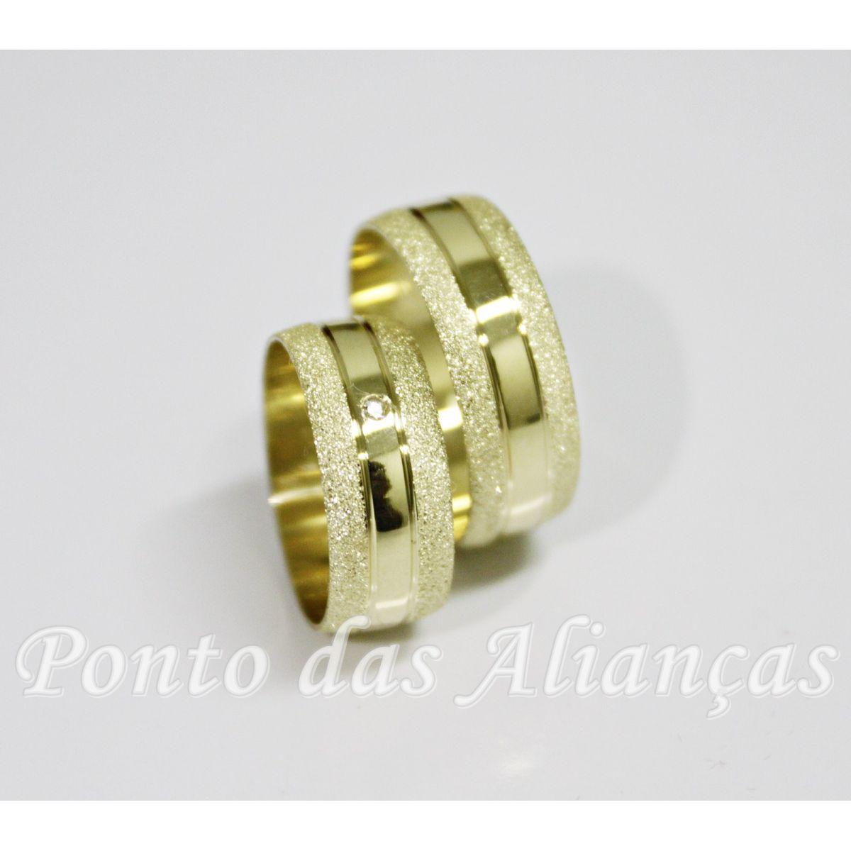 Alianças de Ouro Casamento ou Noivado -  3058