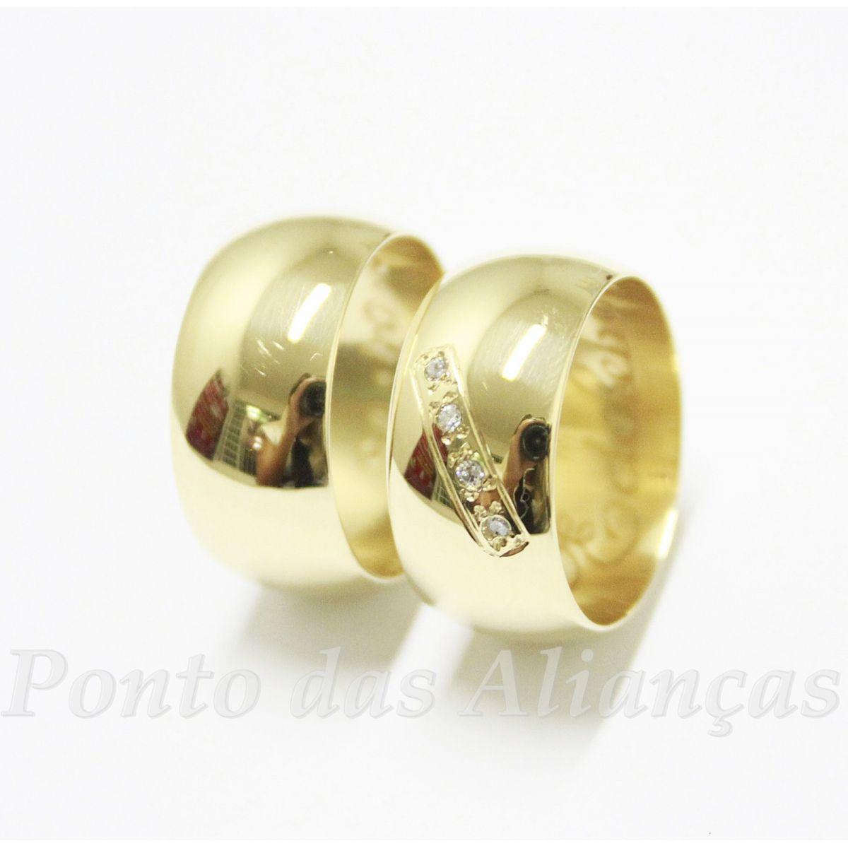 Alianças de Ouro Casamento ou Noivado -  3068