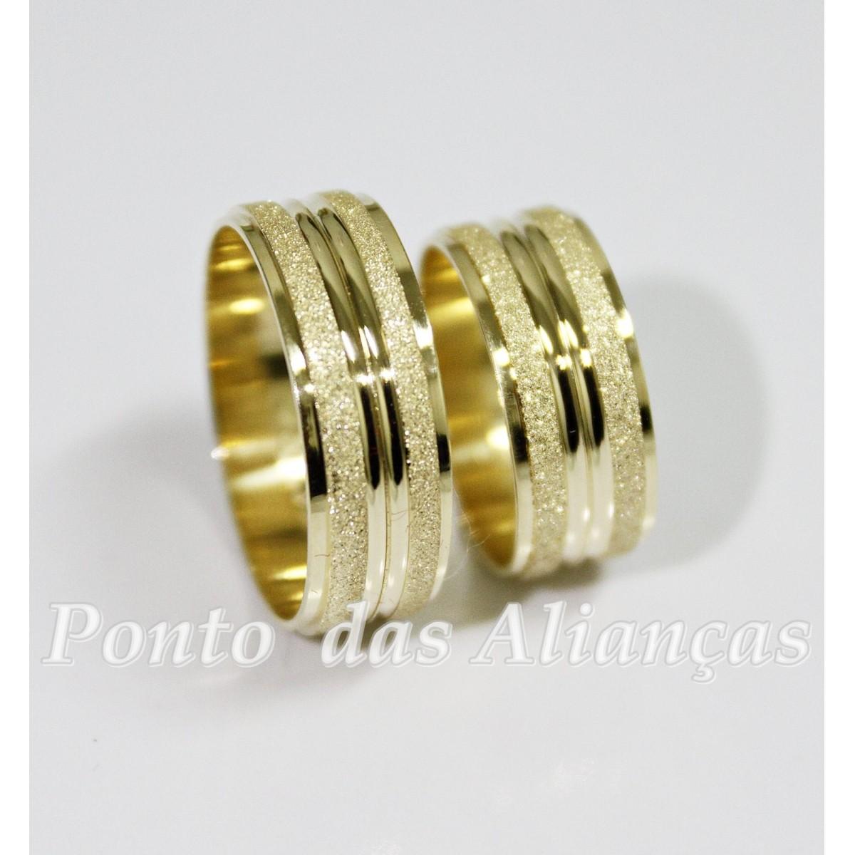 Alianças de Ouro Casamento ou Noivado -  3082