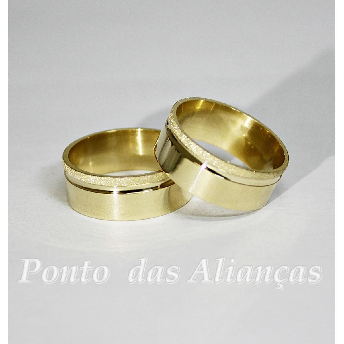 Alianças de Ouro Casamento ou Noivado -  3097
