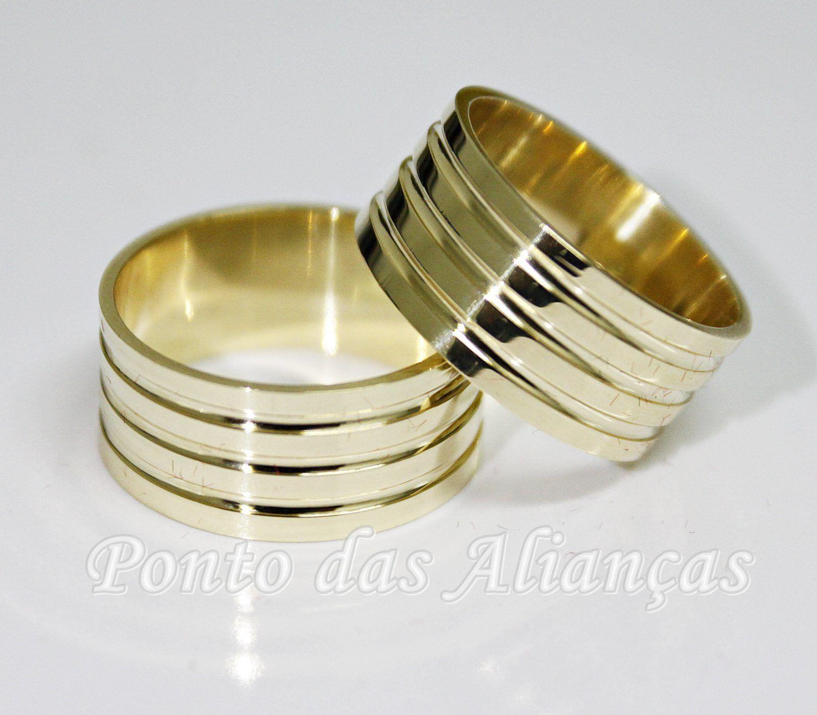 Alianças de Ouro Casamento ou Noivado -  3105
