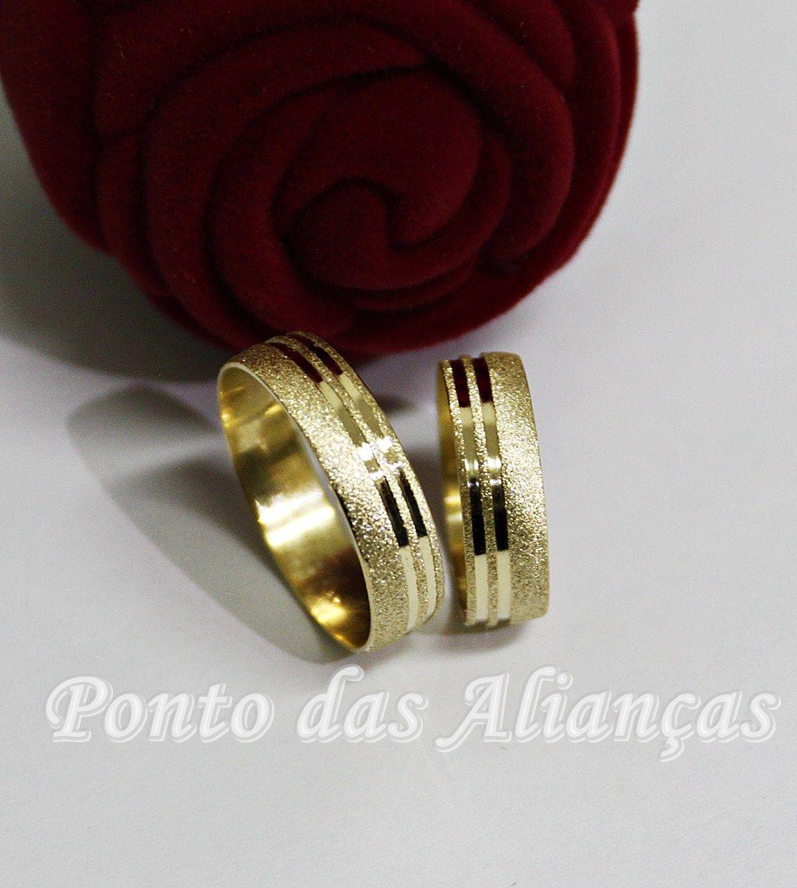 Alianças de Ouro Casamento ou Noivado -  3112