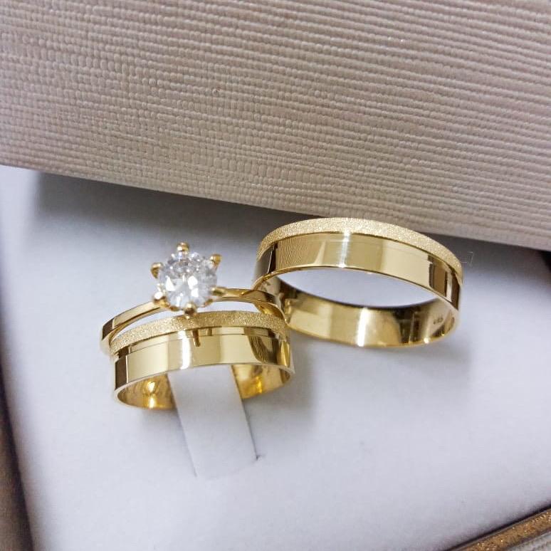 Alianças de Ouro Casamento ou Noivado -  3120