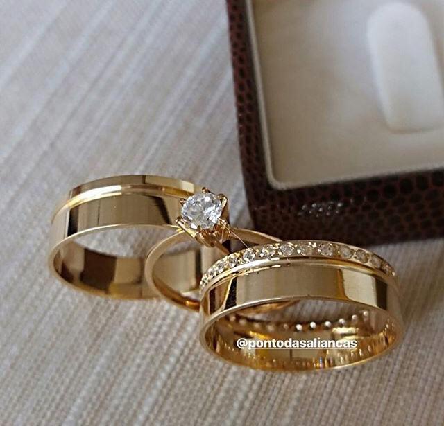Alianças de Ouro Casamento ou Noivado -  3121