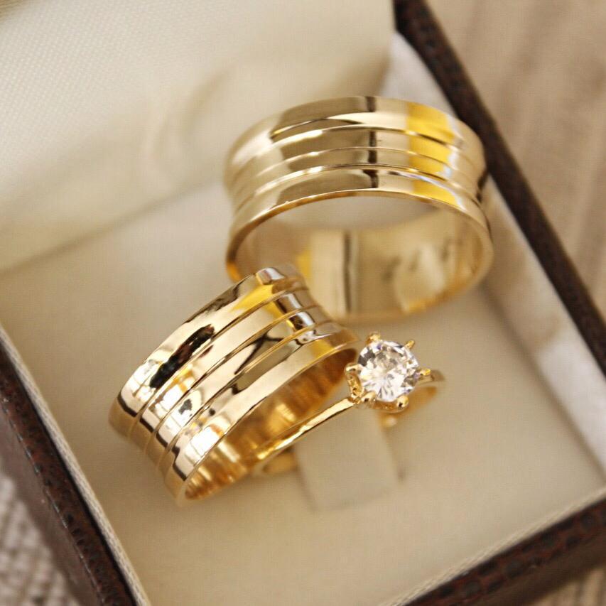 Alianças de Ouro Casamento ou Noivado - 3196