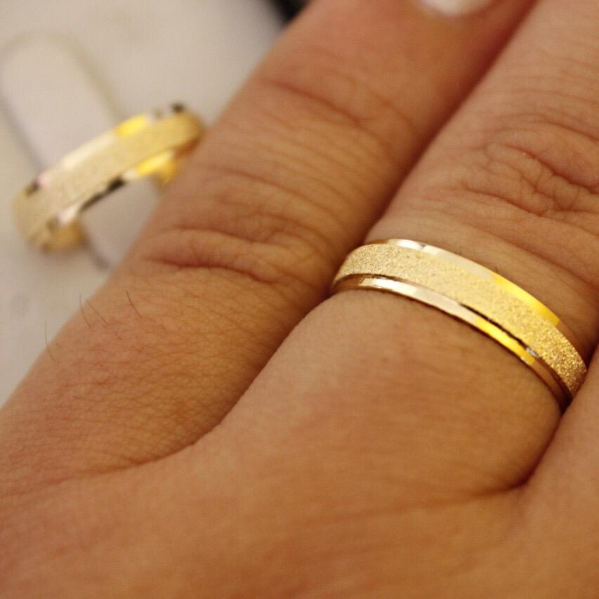 Alianças de Ouro Casamento ou Noivado - 3199