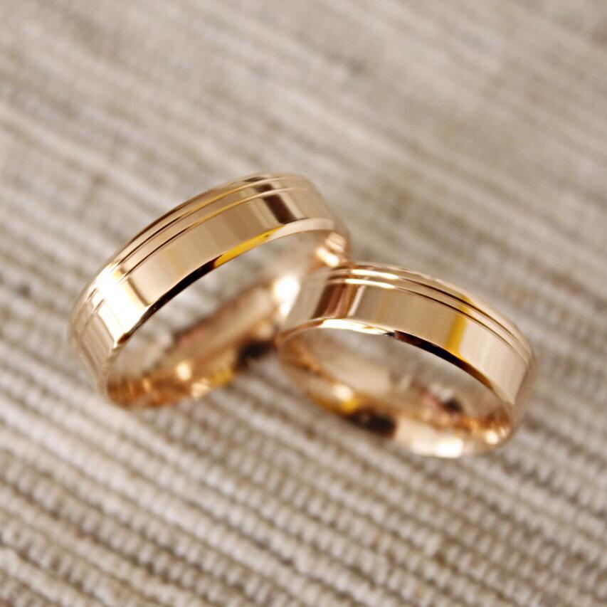 Alianças de Ouro Casamento ou Noivado - 3201