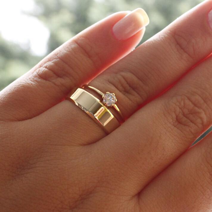 Alianças de Ouro Casamento ou Noivado - 411