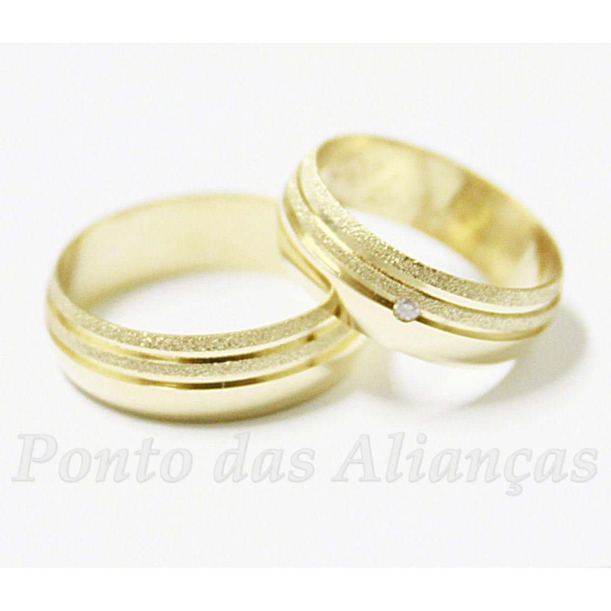 Alianças de Ouro Casamento ou Noivado - 405