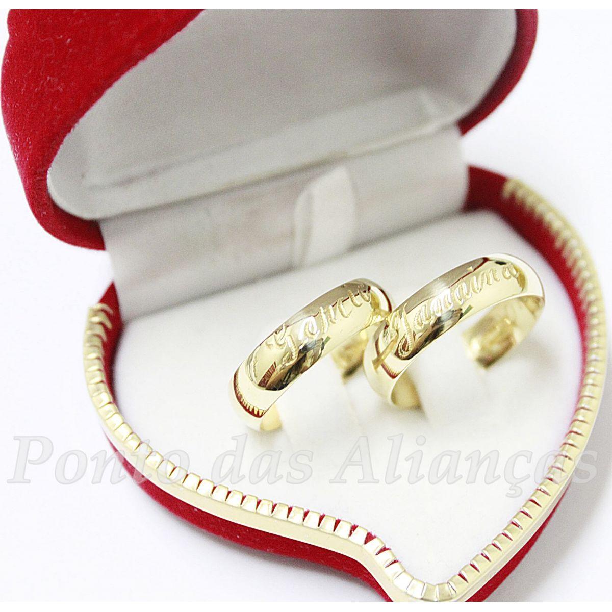 Alianças de Ouro Casamento ou Noivado - 415
