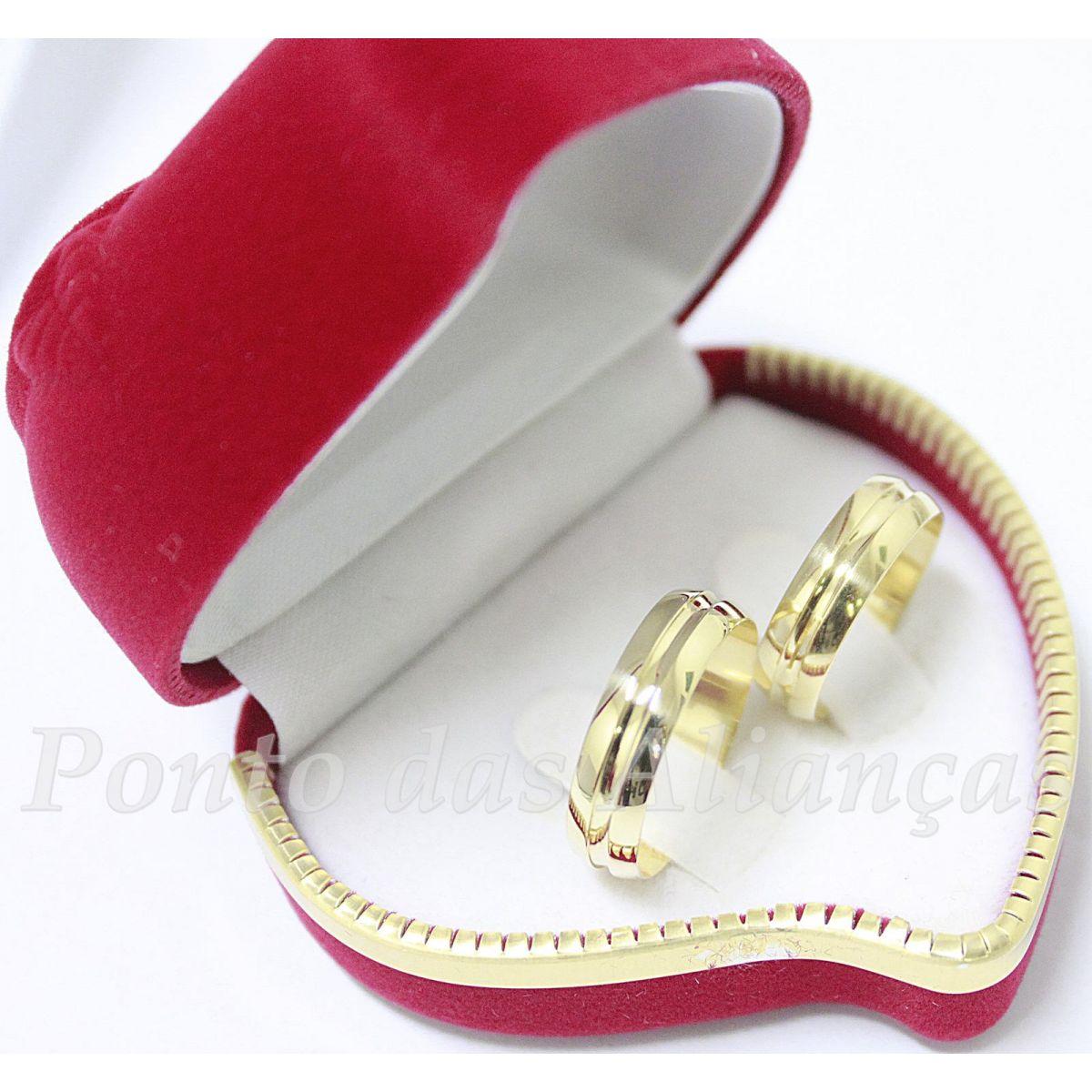 Alianças de Ouro Casamento ou Noivado - 425