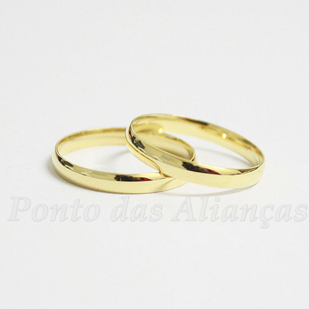 Alianças de Ouro Casamento ou Noivado - 501