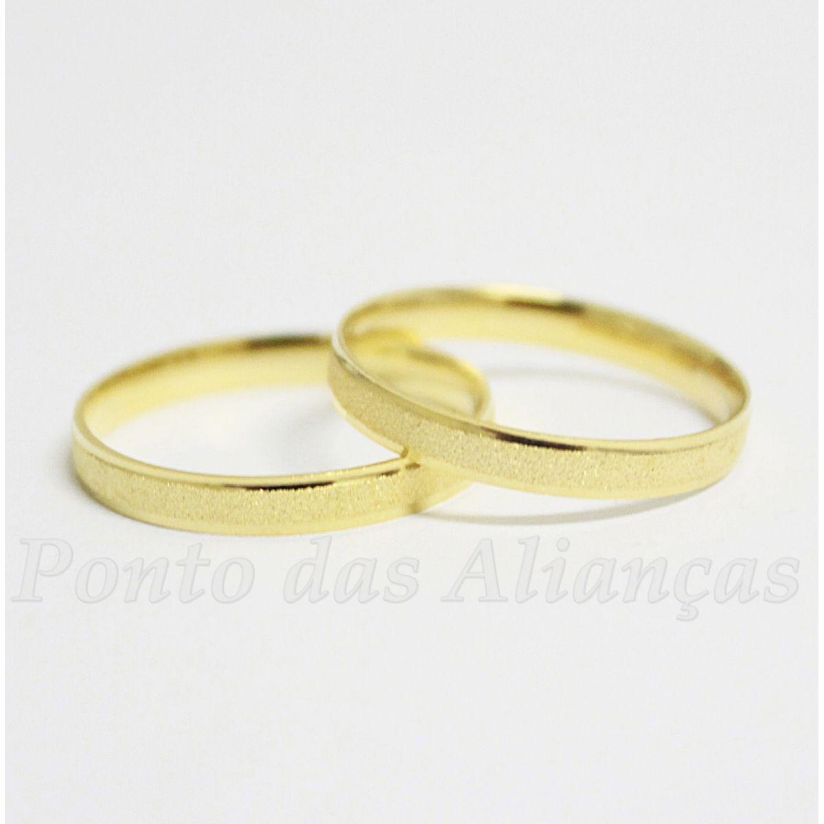 Alianças de Ouro Casamento ou Noivado - 502
