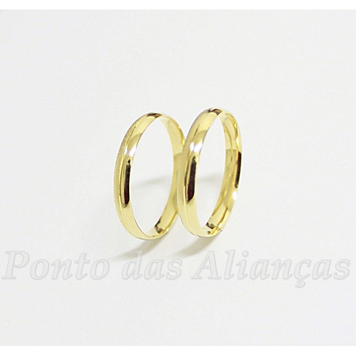 Alianças de Ouro Casamento ou Noivado - 503
