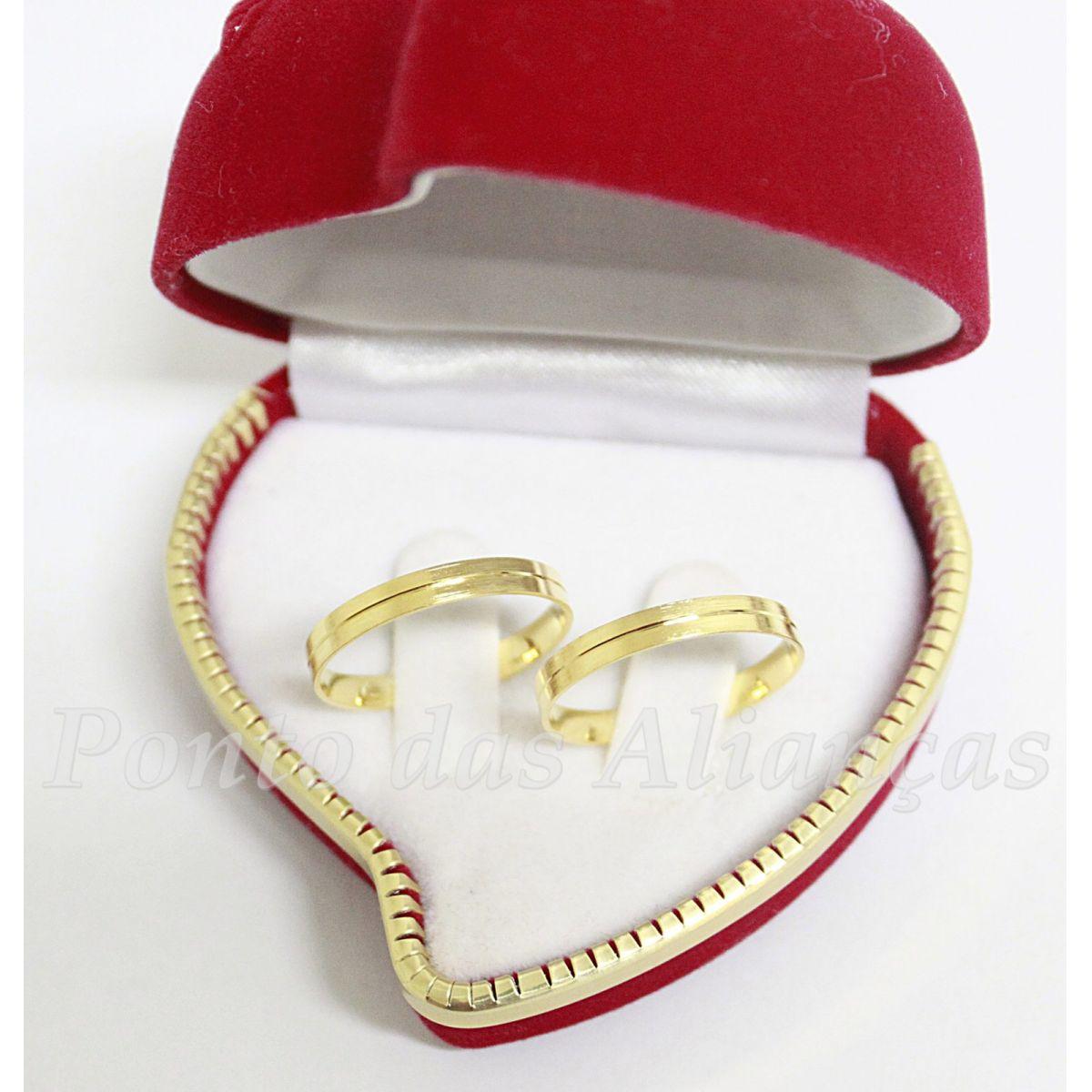 Alianças de Ouro Casamento ou Noivado - 504