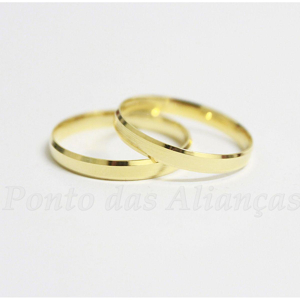 Alianças de Ouro Casamento ou Noivado - 505