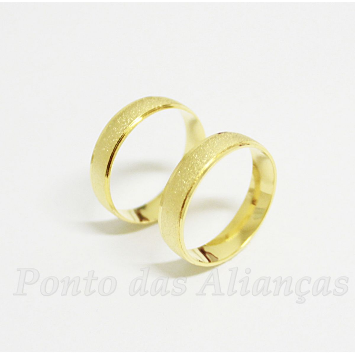 Alianças de Ouro Casamento ou Noivado - 506