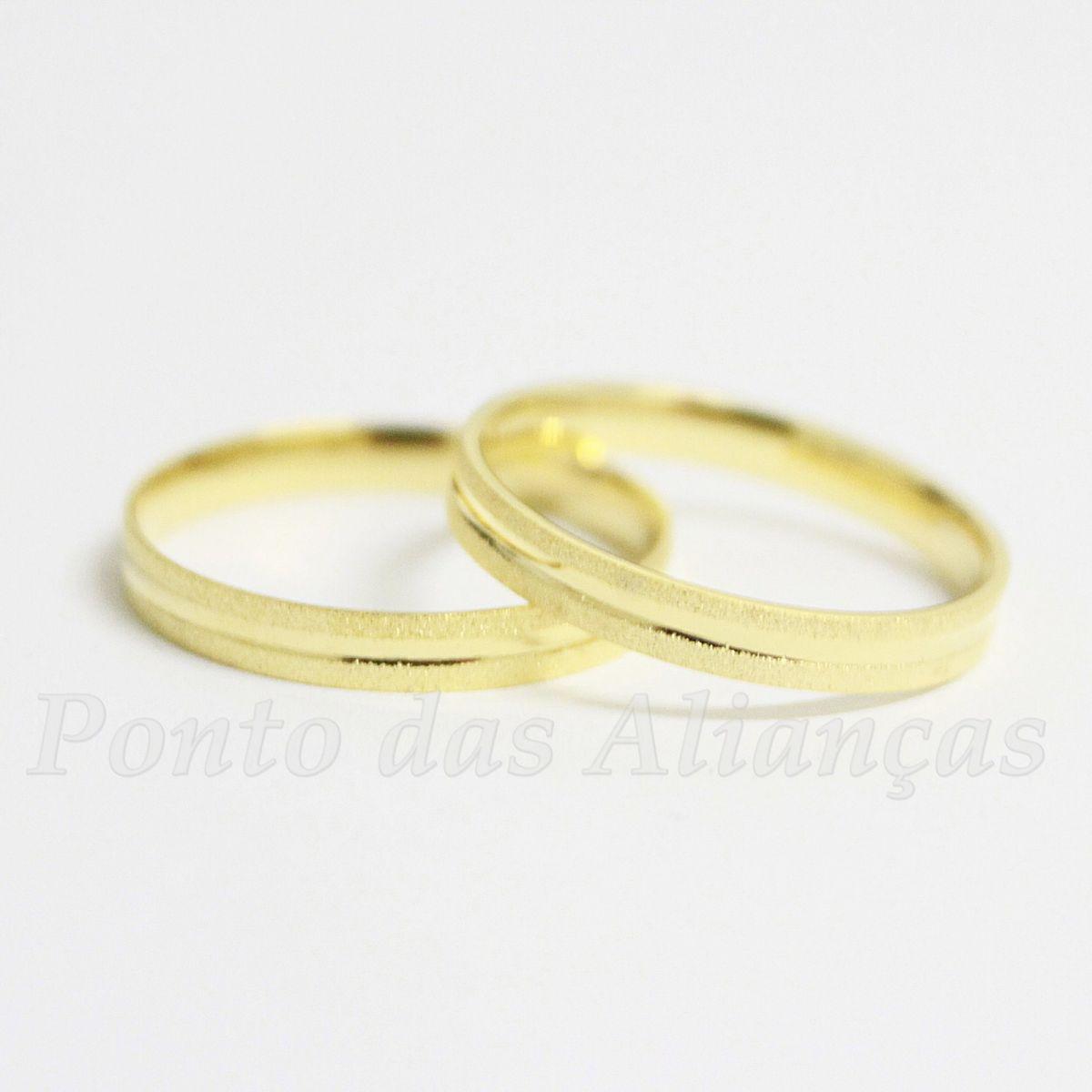 Alianças de Ouro Casamento ou Noivado - 507