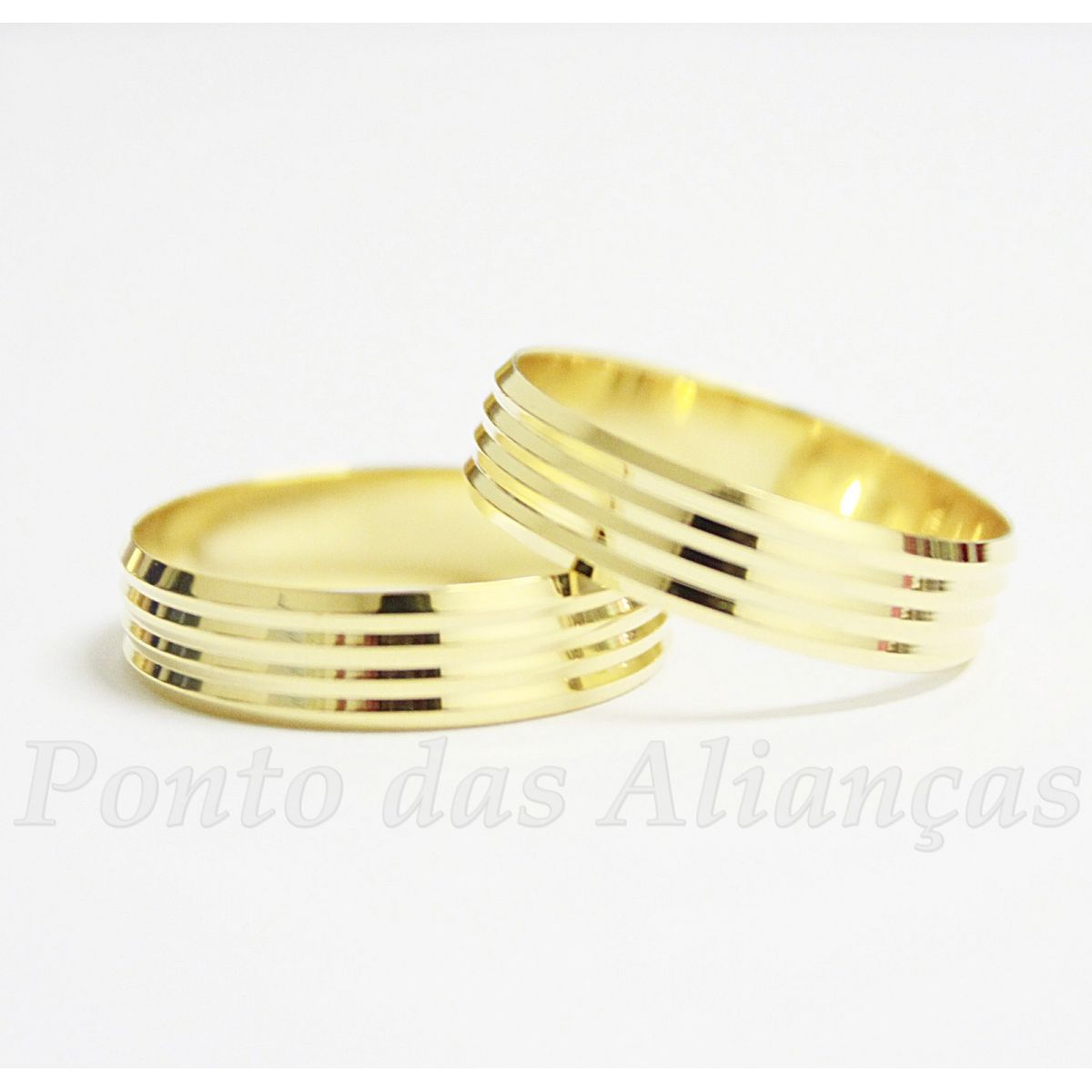 Alianças de Ouro Casamento ou Noivado - 509