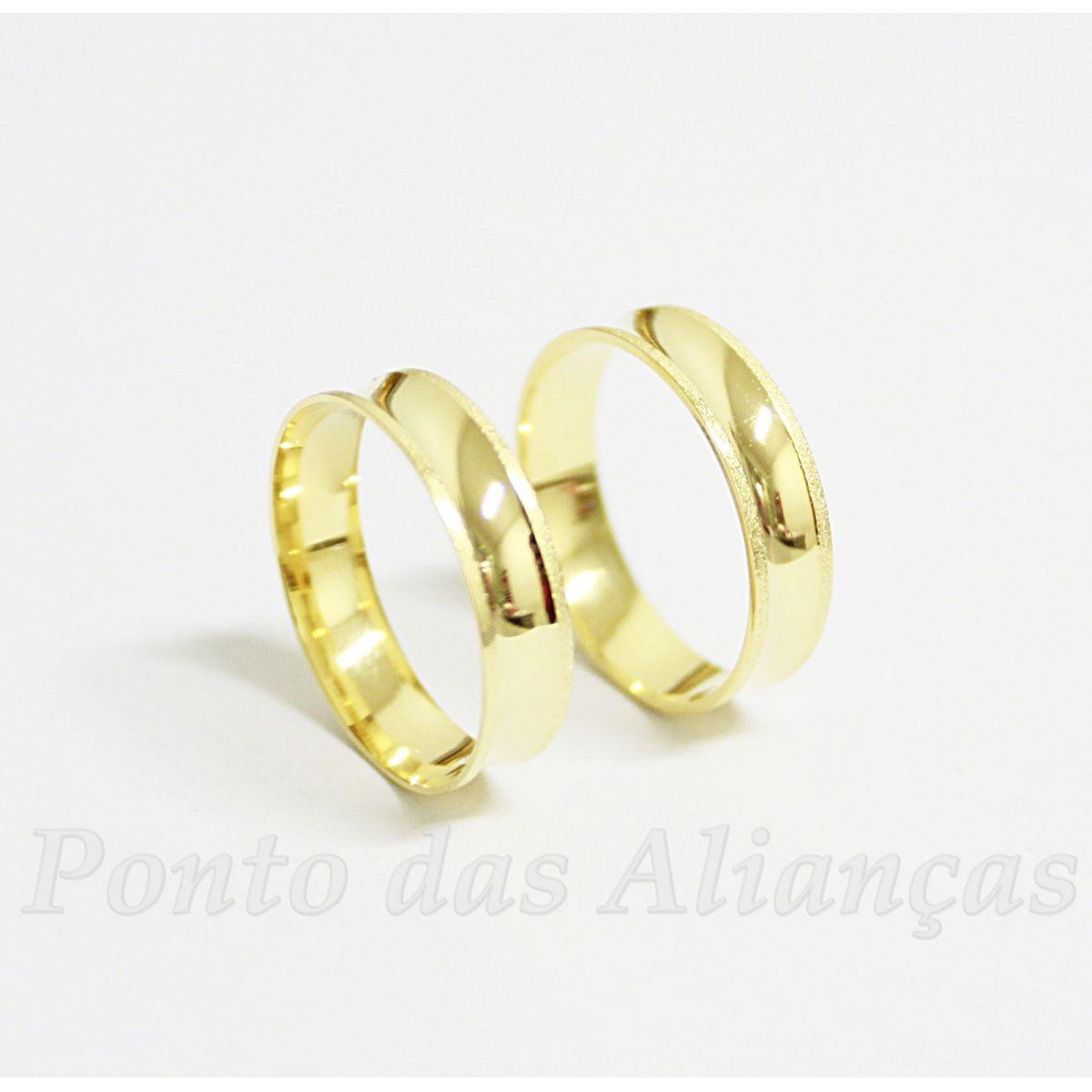 Alianças de Ouro Casamento ou Noivado - 510