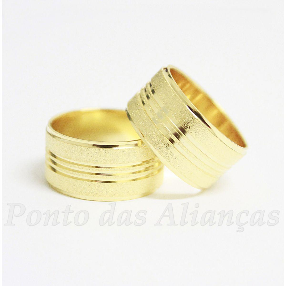 Alianças de Ouro Casamento ou Noivado - 514