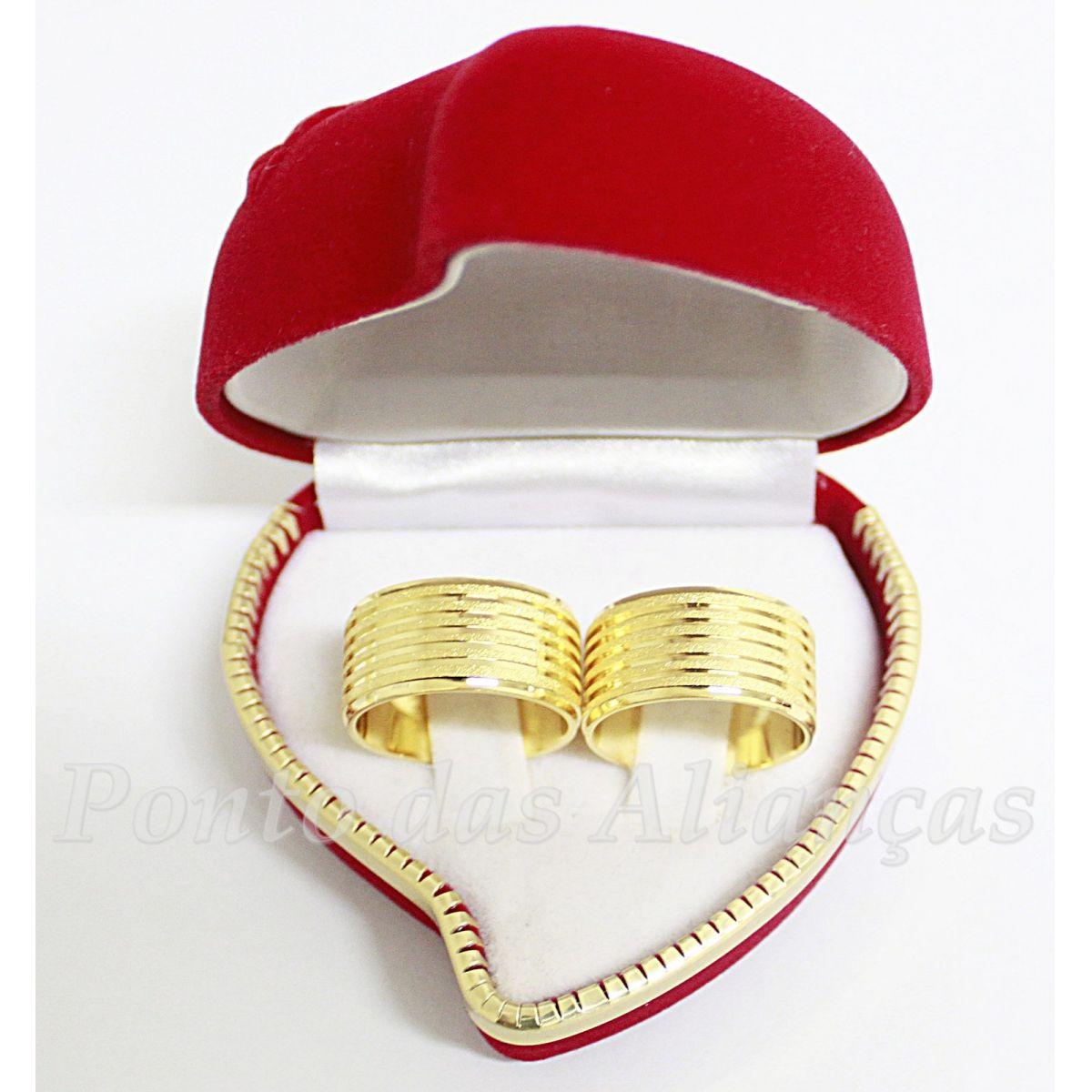 Alianças de Ouro Casamento ou Noivado - 515