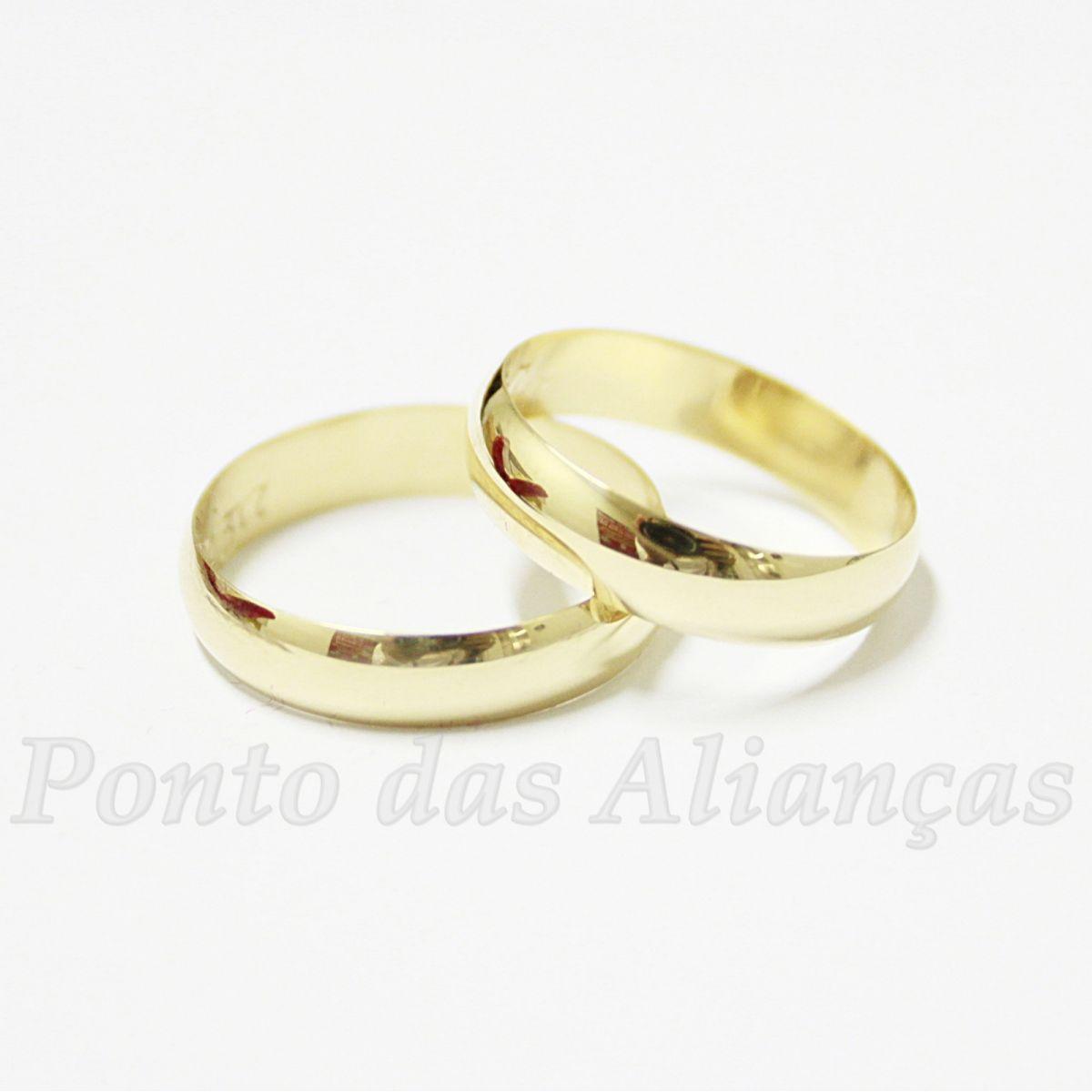Alianças de Ouro Casamento ou Noivado - 521