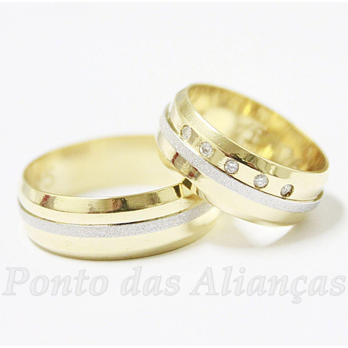 f744e8cbb Alianças de Ouro Casamento ou Noivado - 524 - Ponto das Alianças ...