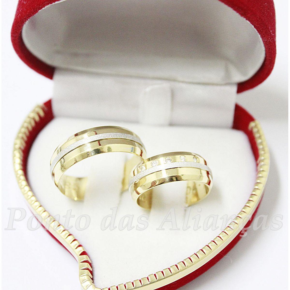 Alianças de Ouro Casamento ou Noivado - 524