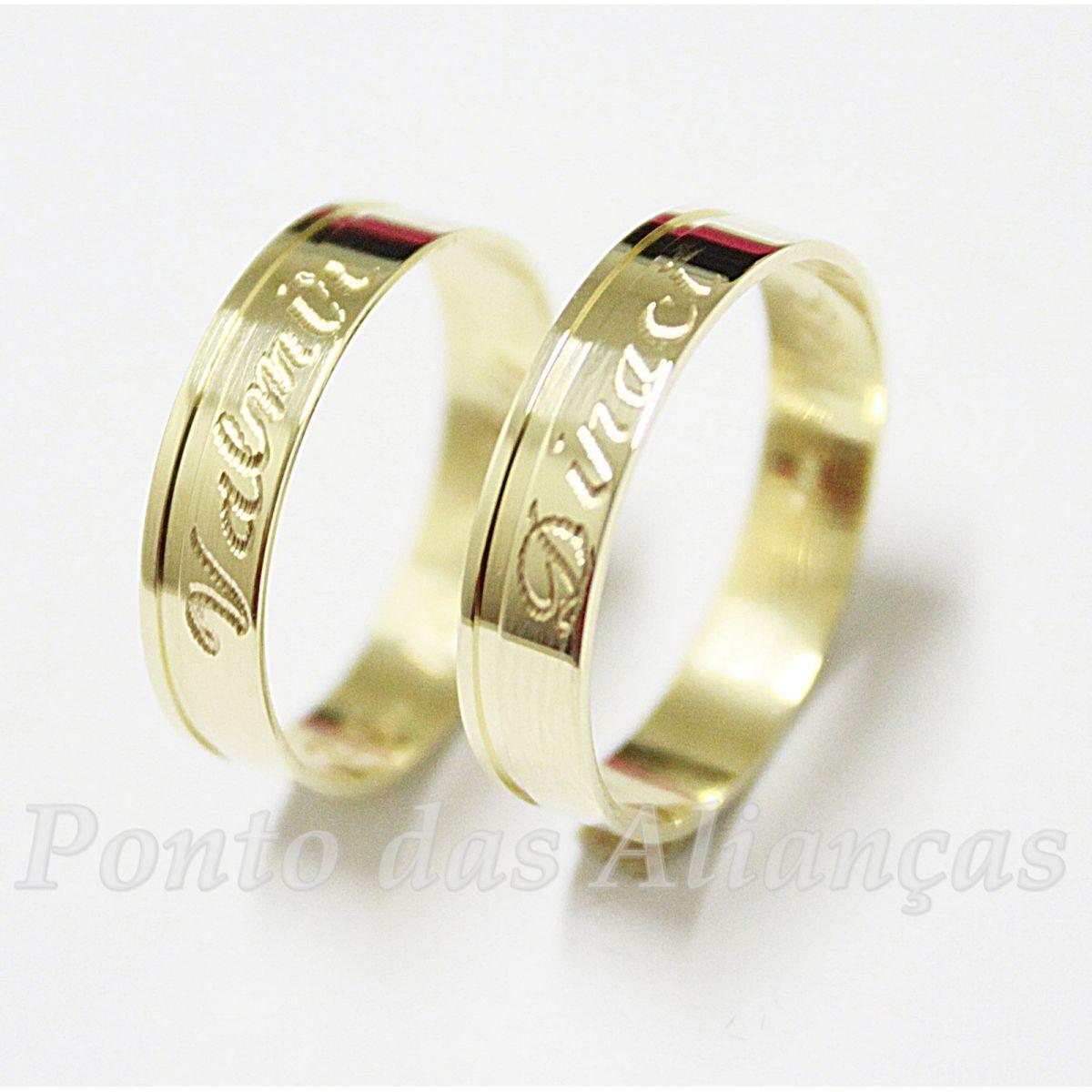 Alianças de Ouro Casamento ou Noivado - 526