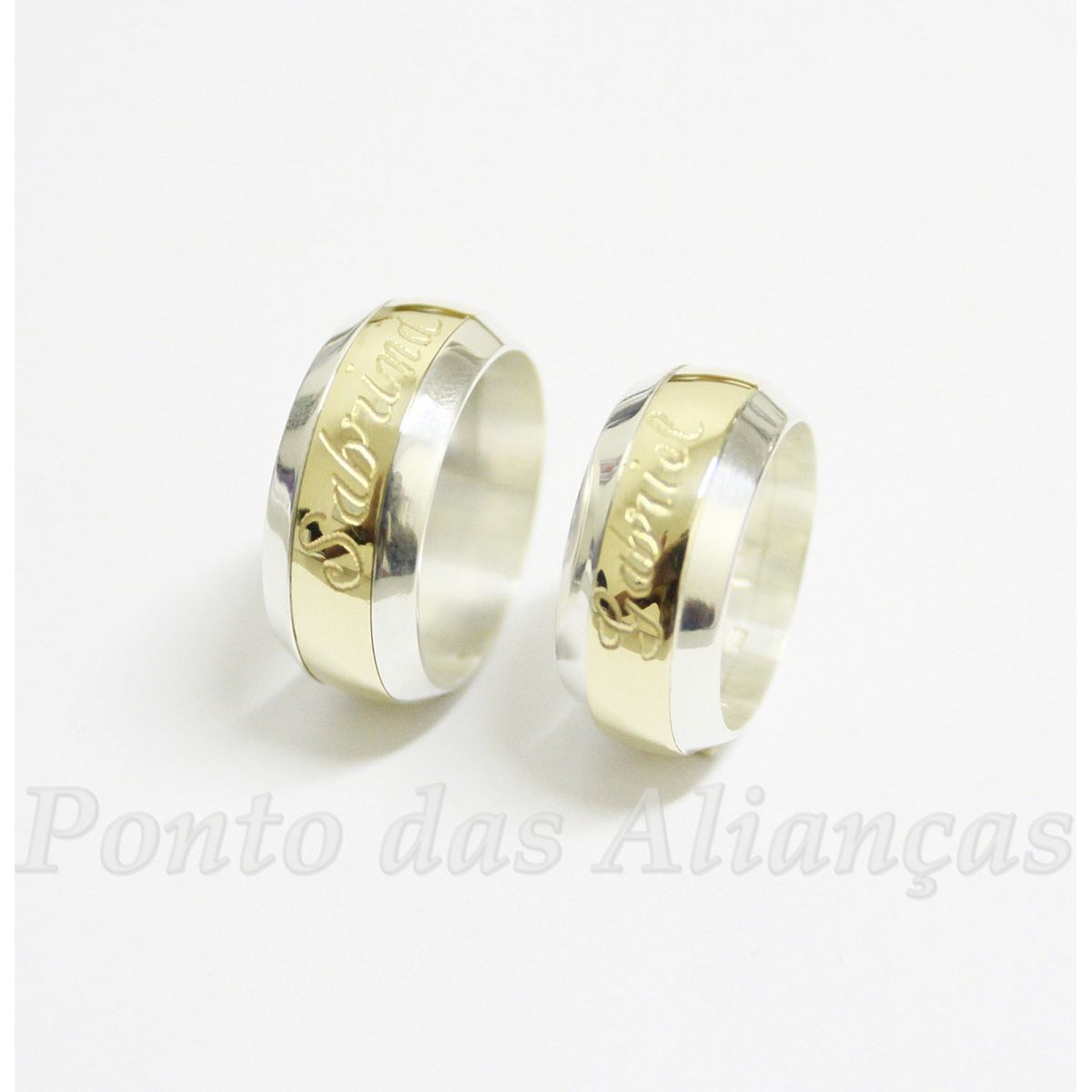 Alianças de Ouro e Prata Casamento ou Noivado - 527