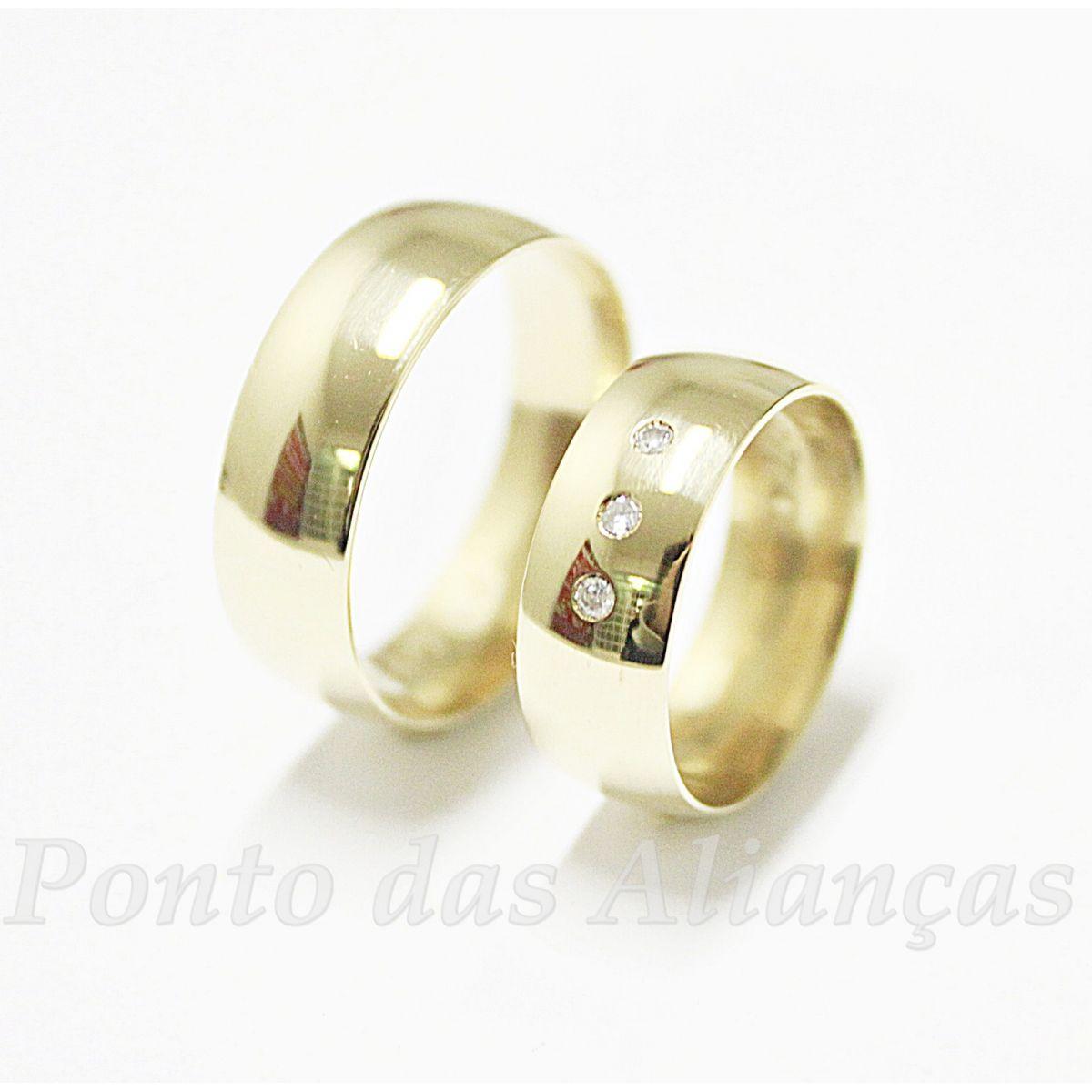 Alianças de Ouro Casamento ou Noivado - 528