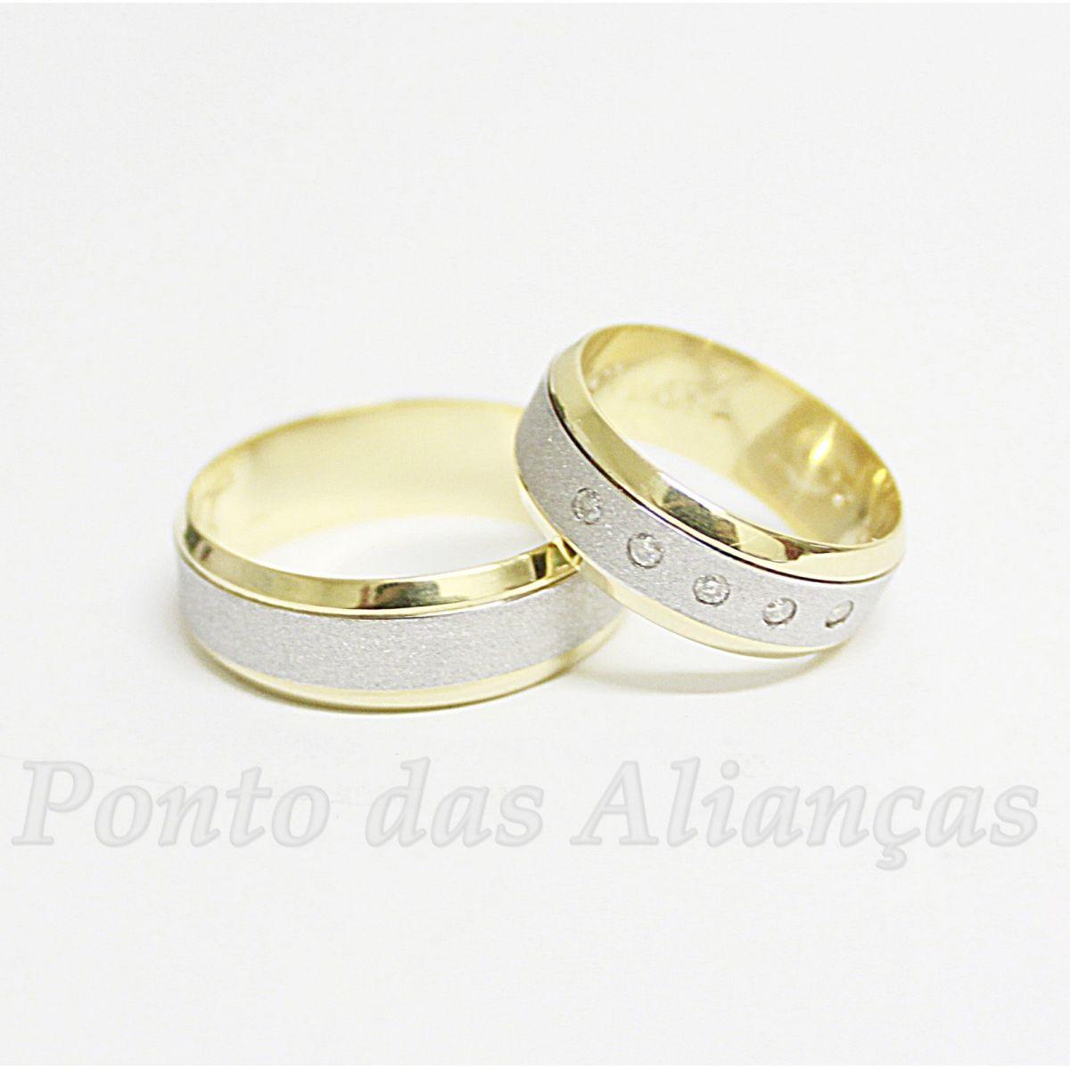 Alianças de Ouro Casamento ou Noivado - 529