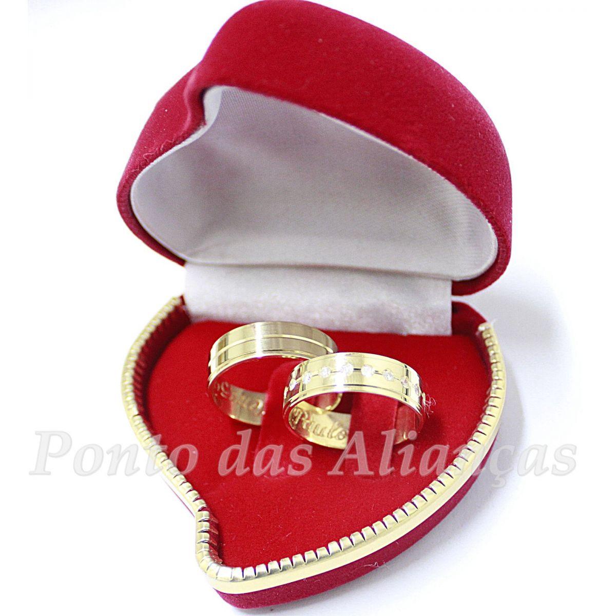 Alianças de Ouro Casamento ou Noivado - 532