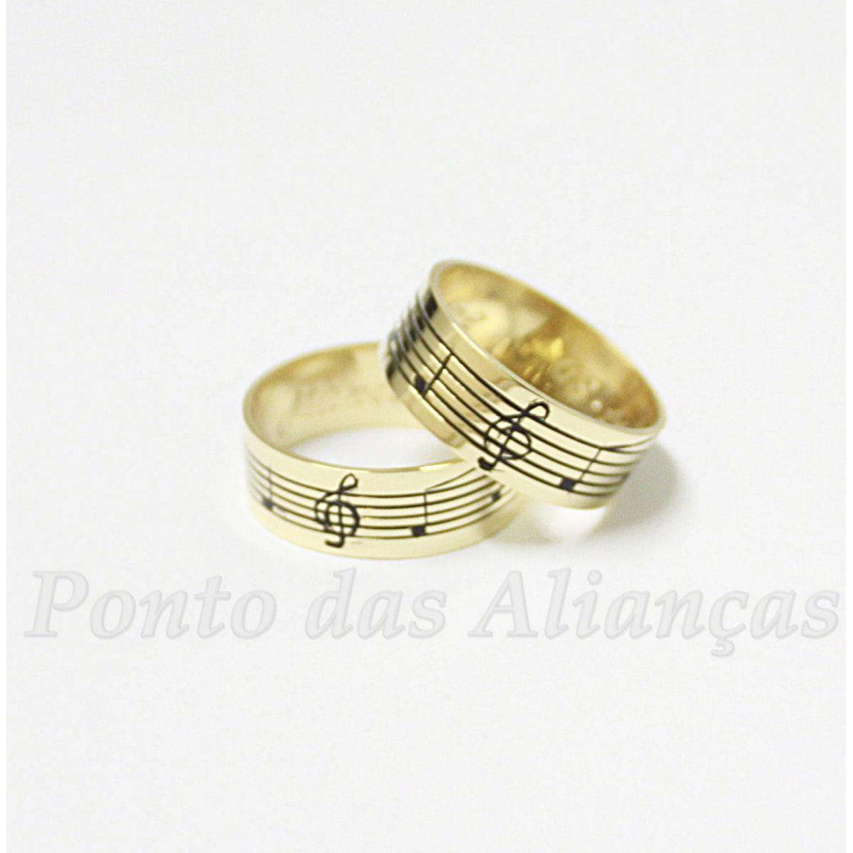 Alianças de Ouro Casamento ou Noivado - 536